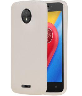 Hoesje voor Motorola Moto C TPU back case transparant Wit