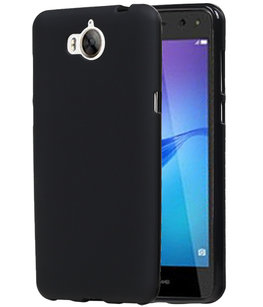 Hoesje voor Huawei Y5 2017 / Y5 III TPU back case Zwart