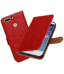 Hoesje voor Huawei Honor 8 Pro / V9 Pull-Up booktype Rood