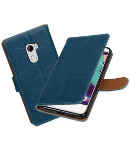 Hoesje voor HTC One X10 Pull-Up booktype Blauw
