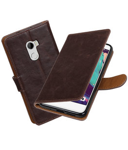 Hoesje voor HTC One X10 Pull-Up booktype Mocca