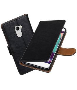 Hoesje voor HTC One X10 Pull-Up booktype Zwart