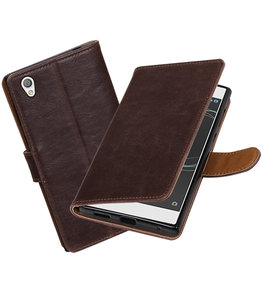 Hoesje voor Sony Xperia L1 Pull-Up booktype Mocca