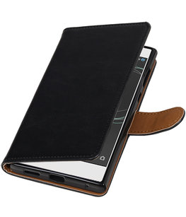 Hoesje voor Sony Xperia XA1 Pull-Up booktype Zwart
