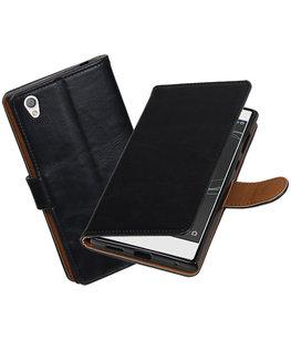 Hoesje voor Sony Xperia L1 Pull-Up booktype Zwart