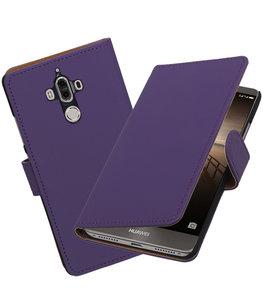Hoesje voor Huawei Mate 9 Effen booktype Paars