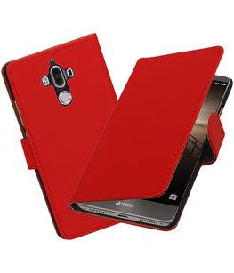 Hoesje voor Huawei Mate 9 Effen booktype Rood