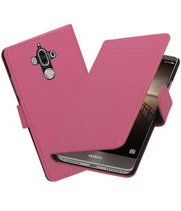 Hoesje voor Huawei Mate 9 Effen booktype Roze