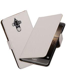 Hoesje voor Huawei Mate 9 Effen booktype Wit