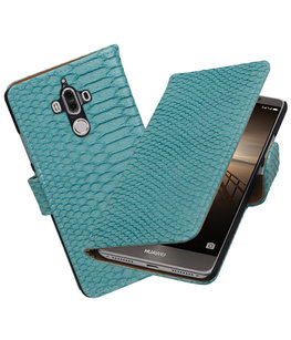 Hoesje voor Huawei Mate 9 Slang booktype Turquoise