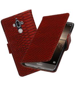 Hoesje voor Huawei Mate 9 Slang booktype Rood