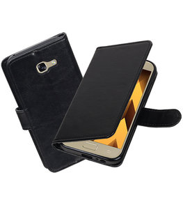 Zwart Portemonnee booktype Hoesje voor Samsung Galaxy A5 2017 A520