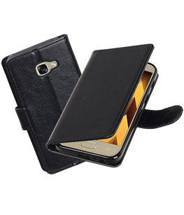 Zwart Portemonnee booktype Hoesje voor Samsung Galaxy A3 2017 A320