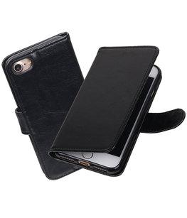 Zwart Portemonnee booktype Hoesje voor Apple iPhone 7 / 8