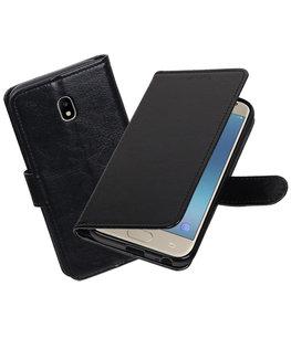 Zwart Portemonnee booktype Hoesje voor Samsung Galaxy J3 2017