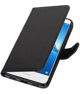 Zwart Portemonnee booktype Hoesje voor Huawei Y5 II / Y6 II Compact
