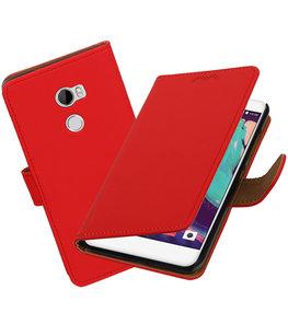 Hoesje voor HTC One X10 Effen booktype Rood