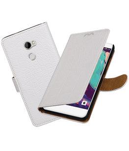 Hoesje voor HTC One X10 Krokodil booktype Wit