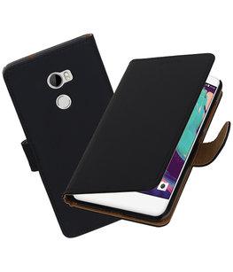Hoesje voor HTC One X10 Effen booktype Zwart