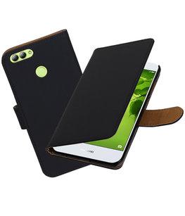 Hoesje voor Huawei nova 2 Effen booktype Zwart