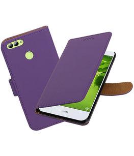 Hoesje voor Huawei nova 2 Effen booktype Paars