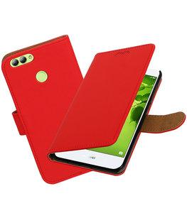 Hoesje voor Huawei nova 2 Effen booktype Rood