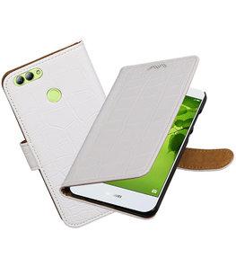 Hoesje voor Huawei nova 2 Krokodil booktype Wit