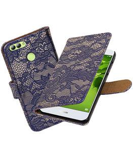 Hoesje voor Huawei nova 2 Lace booktype Blauw