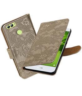 Hoesje voor Huawei nova 2 Lace booktype Goud