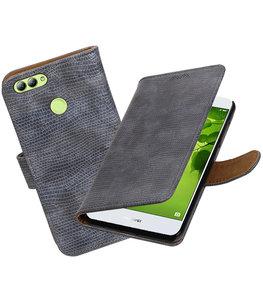 Hoesje voor Huawei nova 2 Mini Slang booktype Grijs