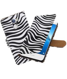 Hoesje voor Huawei Y7 / Y7 Prime Zebra booktype