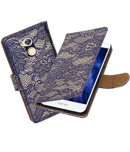 Hoesje voor Huawei Honor 6A Lace booktype Blauw