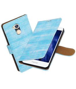 Hoesje voor Huawei Honor 6A Mini Slang booktype Turquoise