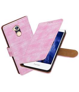 Hoesje voor Huawei Honor 6A Mini Slang booktype Roze