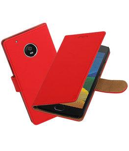 Hoesje voor Motorola Moto G5 Plus Effen booktype Rood