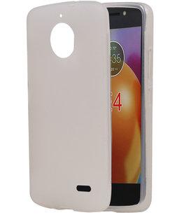 Hoesje voor Motorola Moto E4 TPU back case Wit