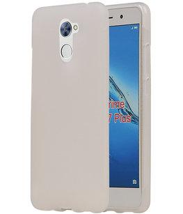 Hoesje voor Huawei Y7 Prime TPU back case Wit