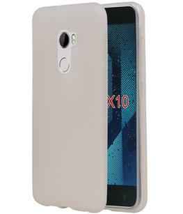 Hoesje voor HTC One X10 TPU back case Wit