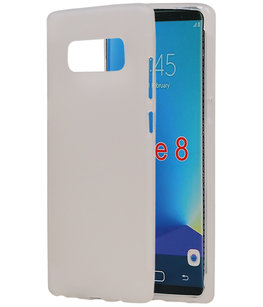 Hoesje voor Samsung Galaxy Note 8 TPU back case Wit