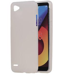 Hoesje voor LG Q6 TPU back case Wit