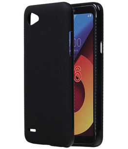 Hoesje voor LG Q6 TPU back case Zwart