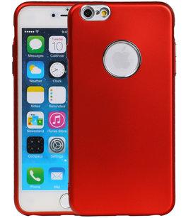 Hoesje voor Apple iPhone 6 Plus / 6s Plus Design TPU back case Rood