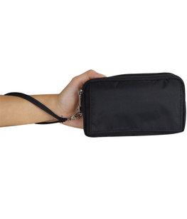 Universeel Polyester Telefoon Tas tot 5.5 inch Zwart