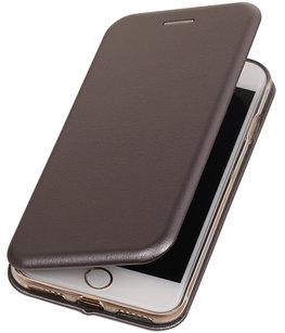 Hoesje voor Apple iPhone 6 Plus / 6s Plus Folio leder look booktype Grijs