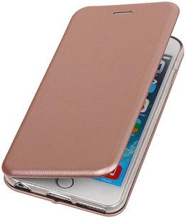 Hoesje voor Apple iPhone 6 Plus / 6s Plus Folio leder look booktype Roze
