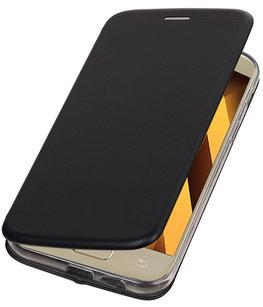 Hoesje voor Samsung Galaxy A7 2017 A720F Folio leder look booktype Zwart