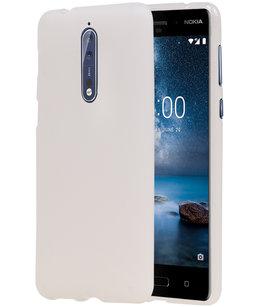 Hoesje voor Nokia 8 Design TPU back case Wit