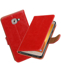 Hoesje voor Samsung Galaxy J7 Max Pull-Up booktype Rood