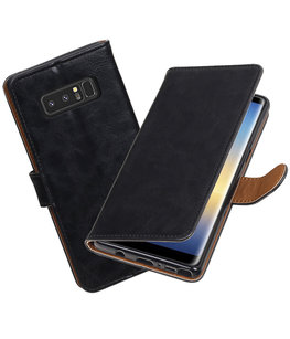 Hoesje voor Samsung Galaxy Note 8 Pull-Up booktype zwart