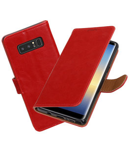 Hoesje voor Samsung Galaxy Note 8 Pull-Up booktype rood